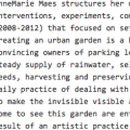 Creating Ecological Corridors in Cities - review