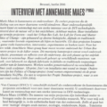 Interview met AnneMarie Maes, 2016